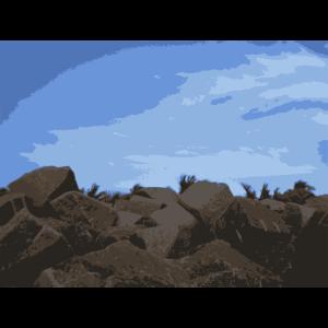 sky-on-rocks